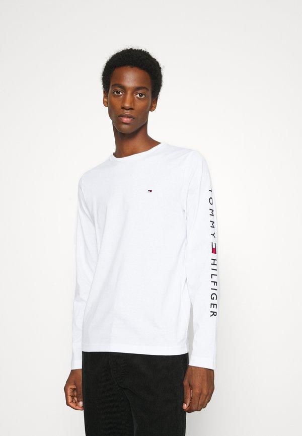 Tommy Hilfiger LOGO LONG SLEEVE TEE - Bluzka z długim rękawem - white/biały Odzież Męska SXMB