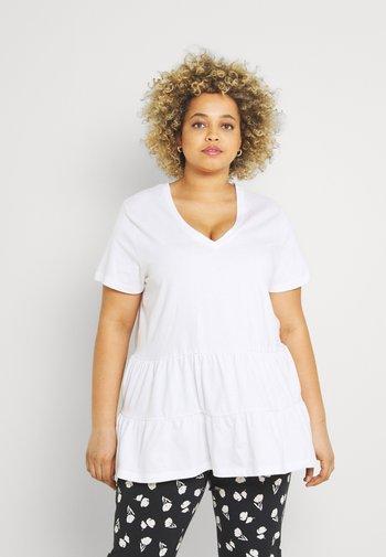 TIERED TEE - Print T-shirt - white
