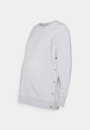 MATERNITY BUTTON SIDE - Sweatshirt - grey marle