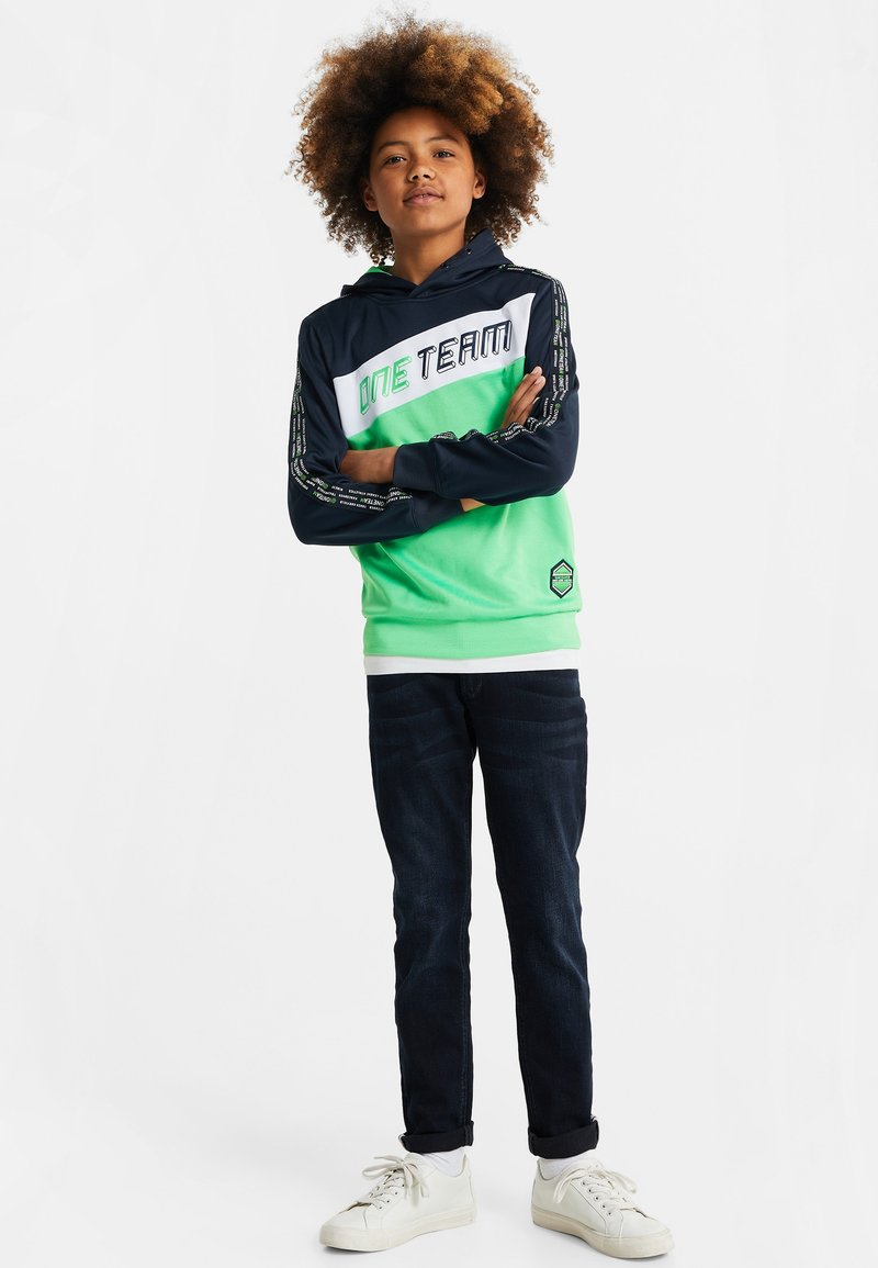 WE Fashion - MET COLOURBLOCK - Hoodie - bright green