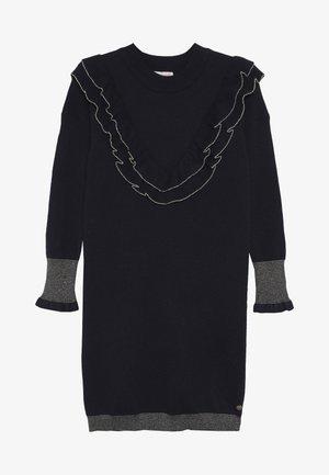 LAPPOLINE - Stickad klänning - navy