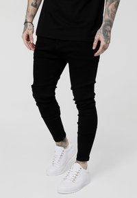SIKSILK - LOW RISE REAR MAJESTIC ROSE - Jeans Skinny Fit - black - 0