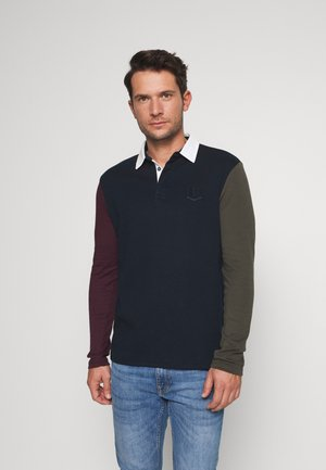 CONTRAST SLEEVE RUGBY - Polo shirt - navy