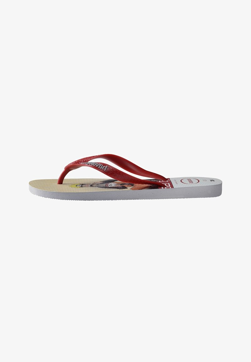 Havaianas - TOP NARUTO - Pool shoes - white, red