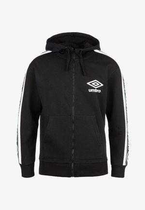 TAPED FZ KAPUZENJACKE HERREN - Zip-up hoodie - black / brilliant white