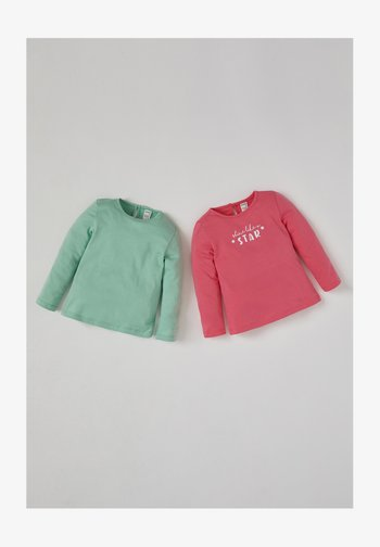 2 PACK - Long sleeved top - pink