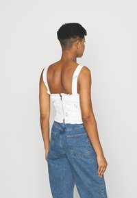 Missguided - FLORAL BRODERIE CORSET  - Top - white - 2