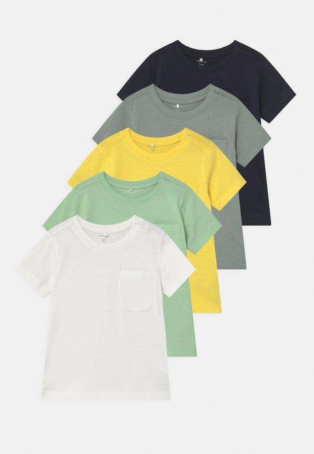 NBMSAZU 5 PACK - Camiseta estampada - pastel green