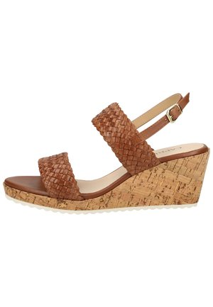 Wedge sandals - brandy nappa 322