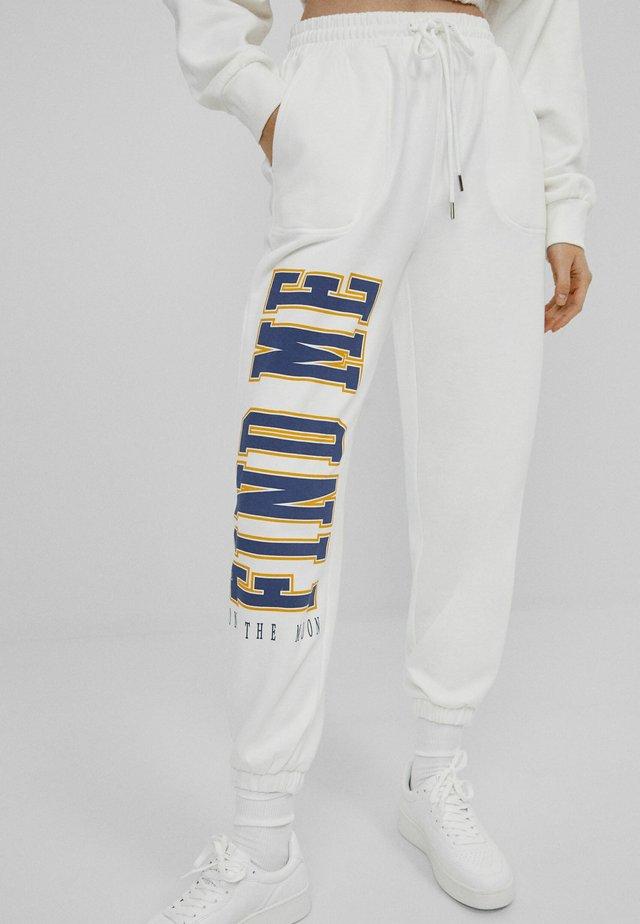 MIT PRINT - Pantalon de survêtement - white