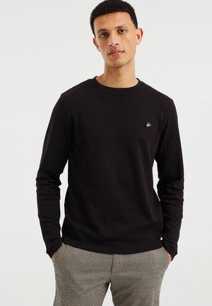 SLIM FIT  - Long sleeved top - black