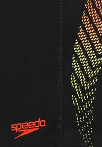 Speedo - PLASTISOL PLACEMENT AQUASHORT - Swimming shorts - black lazer/lemon/fluorecent tangerine - 2
