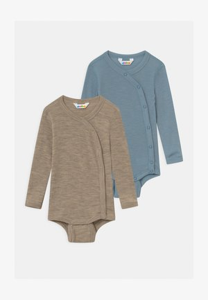 SIDECLOSING 2 PACK UNISEX - Body - blue/mottled light brown