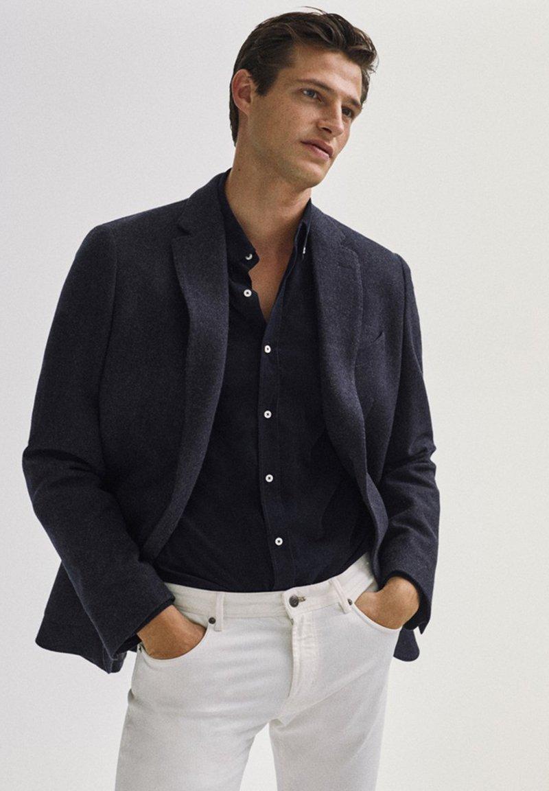 Massimo Dutti - SLIM-FIT - Blazer jacket - blue