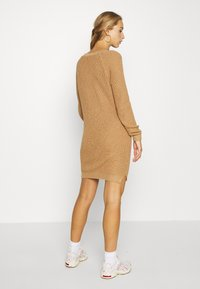 Noisy May - NMSIESTA O-NECK DRESS - Jumper dress - camel - 2