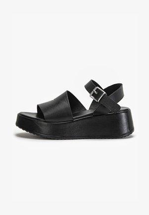 Sandales à plateforme - black mono bko