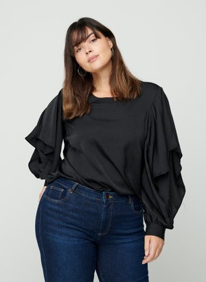 LONG-SLEEVED - Blouse - black