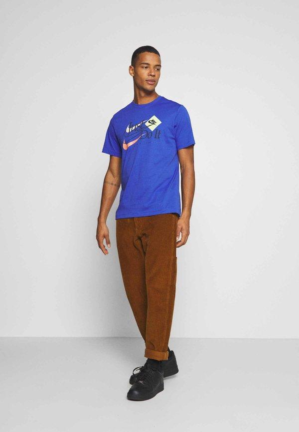 Nike Sportswear BRAND RIFFS - T-shirt z nadrukiem - astronomy blue/niebieski Odzież Męska HDRS