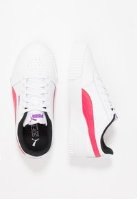 Puma - CARINA  - Trainers - white/energy rose - 3