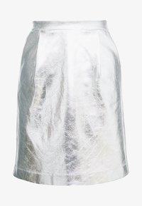 KARL LAGERFELD - COATED SKIRT - A-line skirt - silver - 4