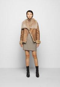 STUDIO ID - PHILIPPA JACKET - Leather jacket - camel/light camel - 1