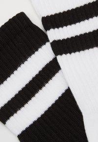 camano - ONLINE UNISEX FASHION 4 PACK - Strumpor - black white - 2