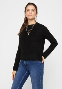 Pieces - PCELLEN - Sweter - black - 0