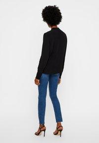 Vero Moda - JAPANISCHER - Button-down blouse - black - 2
