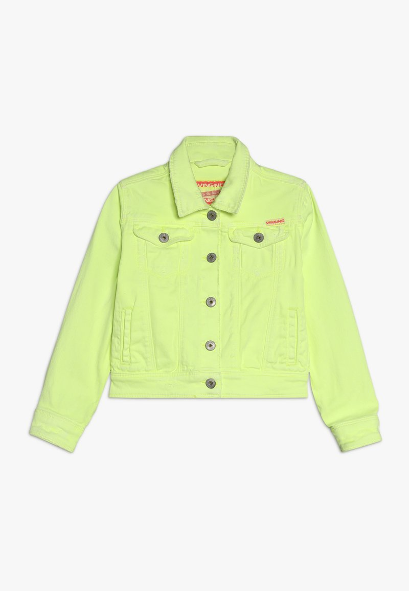 Vingino - TOSCANE - Denim jacket - neon yellow