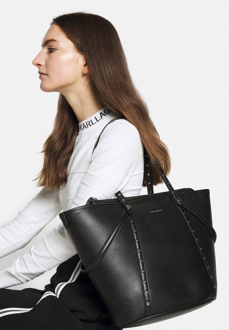 KARL LAGERFELD - KABAS TOTE - Bolso shopping - black
