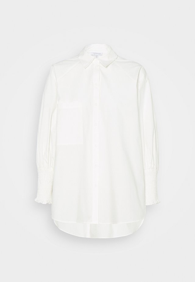 SHIRRED CUFF - Button-down blouse - ivory