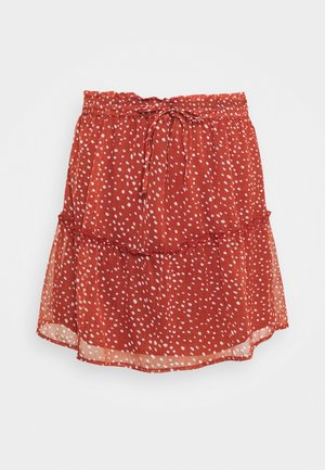 NMJUST SKIRT - Gonna a campana - marsala