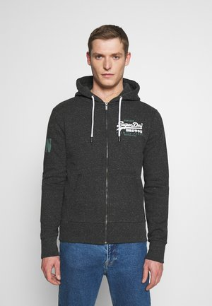 DUO ZIPHOOD - Zip-up hoodie - black snow heather