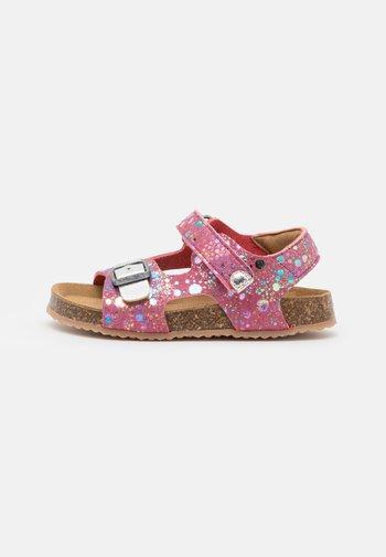 FUXIO - Sandals - rose/argent