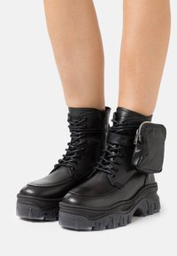 Bronx - JAXSTAR - Lace-up ankle boots - black - 0