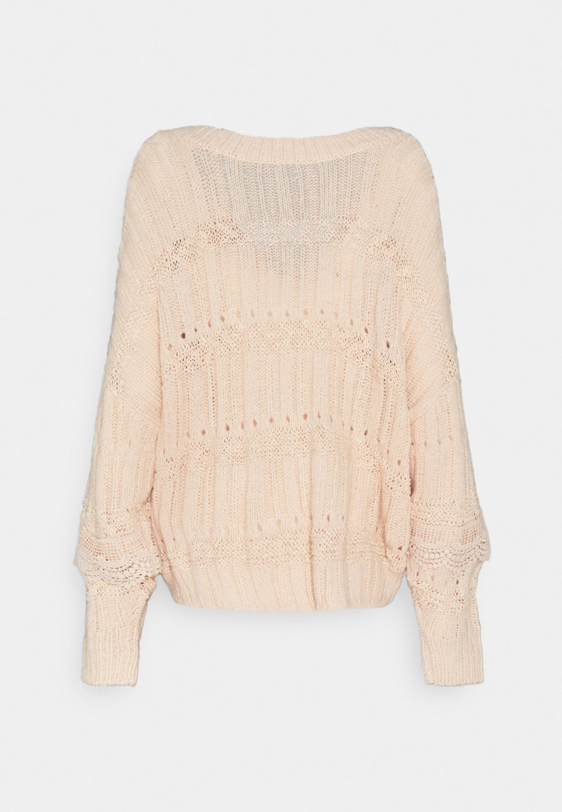 YAS YASLACARA - Strickpullover - whisper pink/beige 8hTy39