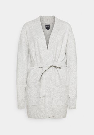 BELTED OPEN SUPER PLUSH - Cardigan - grey