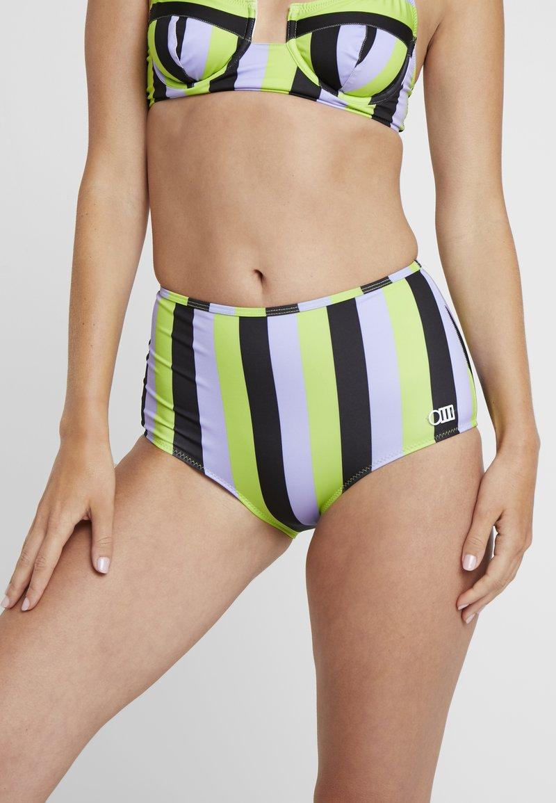 Solid & Striped - THE KIKI BOTTOM - Bikini bottoms - lavender/lime/black