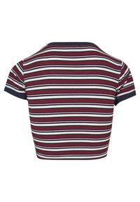 Urban Classics - Print T-shirt - white/navy/fire red - 2
