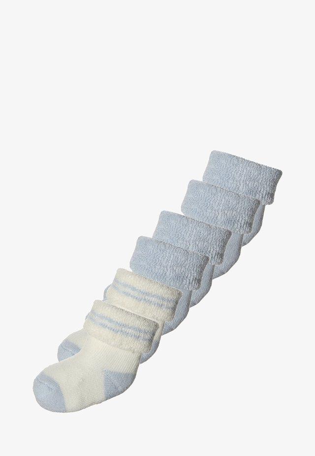 6 PACK - Ponožky - hellblau/offwhite