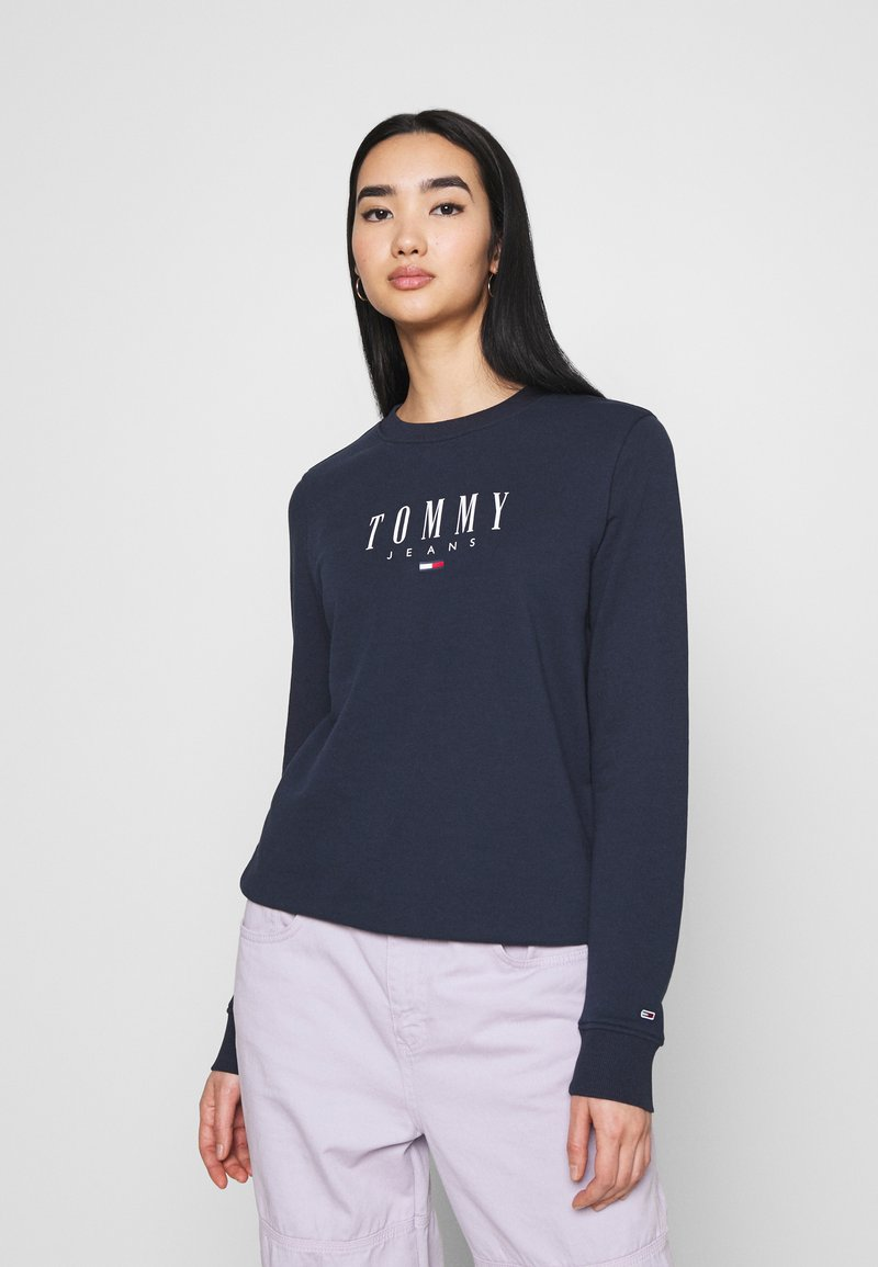 Tommy Jeans - REGULAR ESSENTIAL LOGO - Felpa - twilight navy