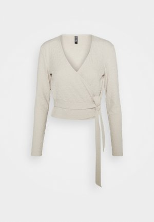 PCGRACELIA  WRAP  - Long sleeved top - birch