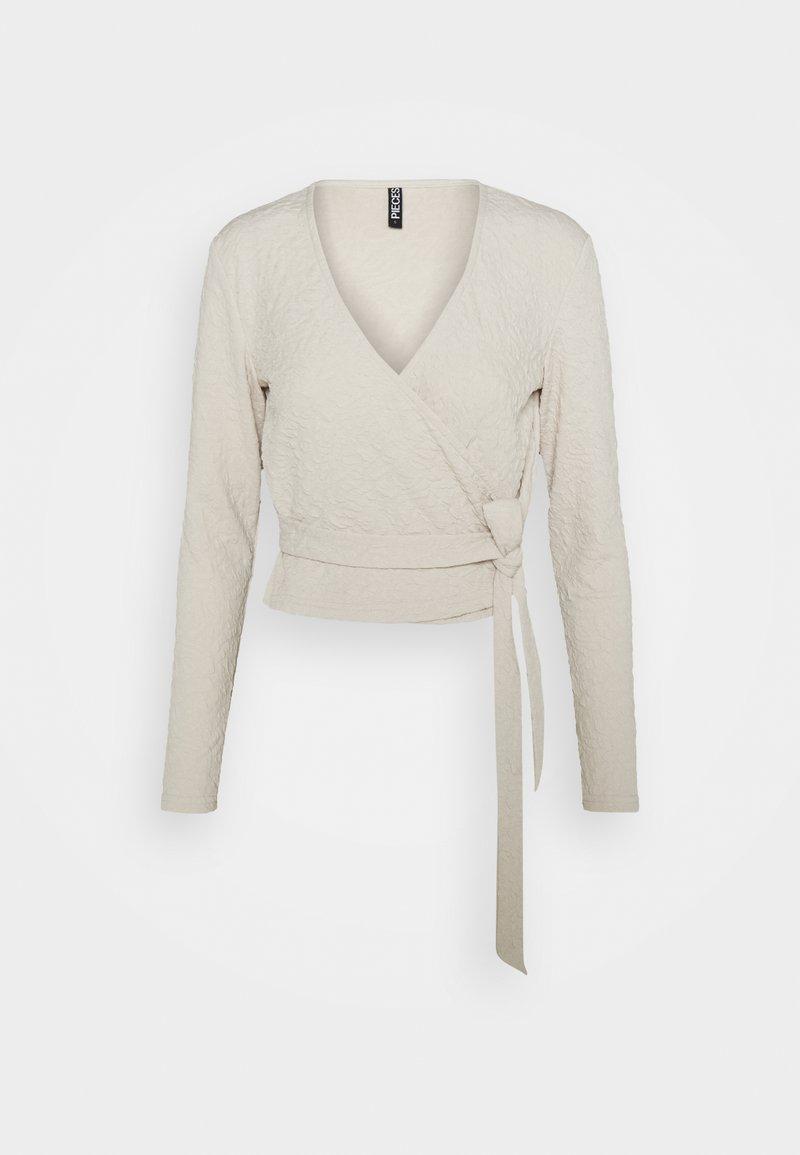 Pieces - PCGRACELIA  WRAP  - Long sleeved top - birch