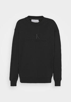 EMBROIDERY ECO WASH CREWNECK - Sweatshirt - black
