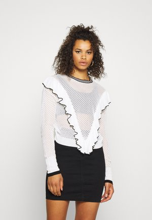 FRILL DETAIL - Jumper - white