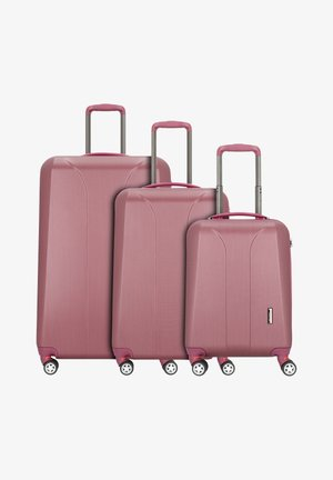 NEW CARAT  - Luggage set - burgundi brushed