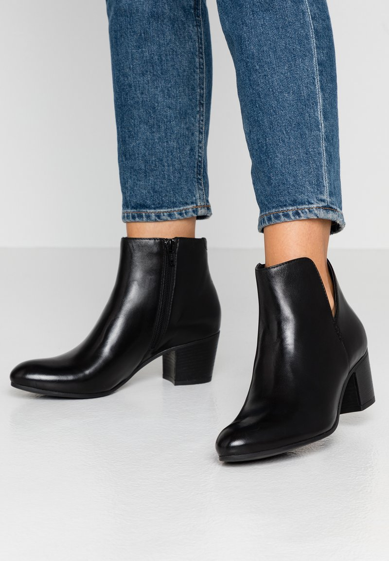 Anna Field - LEATHER BOOTIES - Boots à talons - black