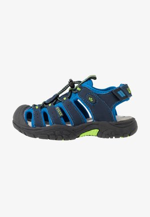 NIMBO - Walking sandals - blau/lemon