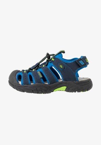 NIMBO - Walking sandals - blau/lemon