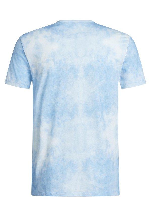 WE Fashion T-shirt z nadrukiem - light blue/jasnoniebieski Odzież Męska DLWF